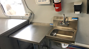 food truck wash up station small