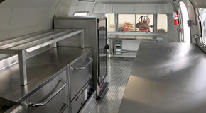 Completed Airstream Food Truck kitchen -small pic