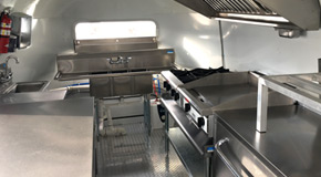 Completed Airstream Food Truck kitchen