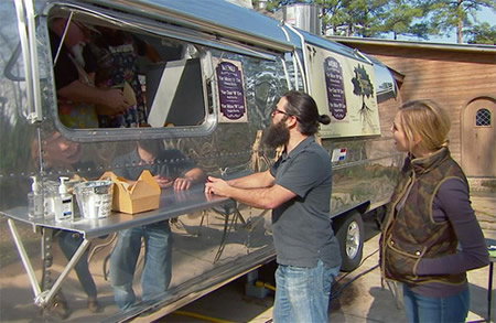 Jep and Jessica Robertson with their Airstream Food Truck