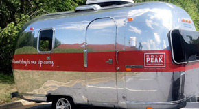 Gold Peak Tea Airstream - Exterior decals have been installed