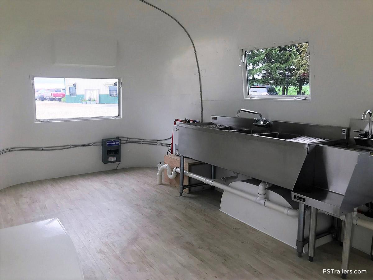 Airstream Trailer Interior Serving
